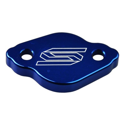 Couvercle de maître cylindre de frein arrière Scar aluminium anodisé bleu pour Yamaha YZ 125 03-16