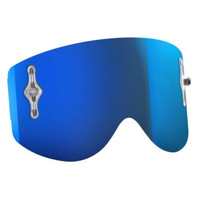 Écran Works Scott pour masque Recoil et 80 chrome bleu électrique