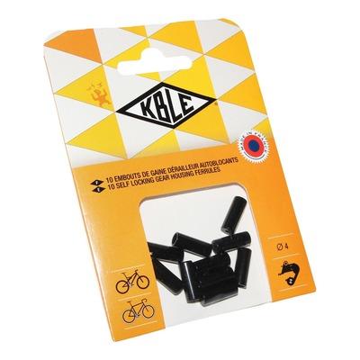 Embouts de gaine autobloquant dérailleur Transfil Ø4mm noir (10 pièces)