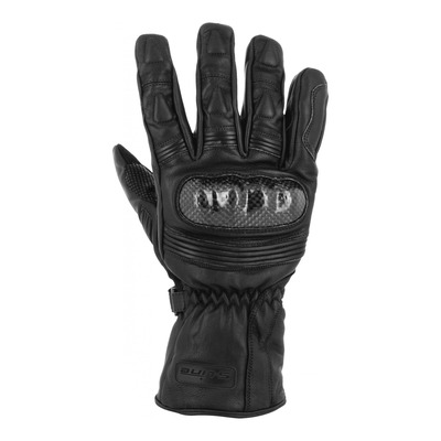 Gants cuir S-line Luxe carbone WP noir