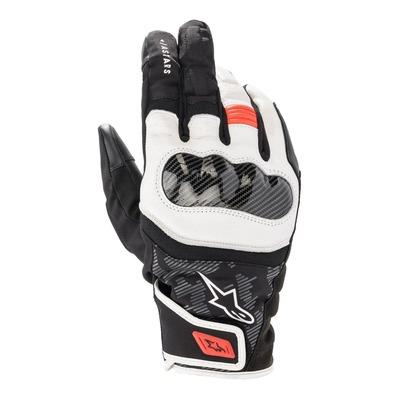 Gants cuir/textile Alpinestars SMX Z Drystar noir/blanc/rouge