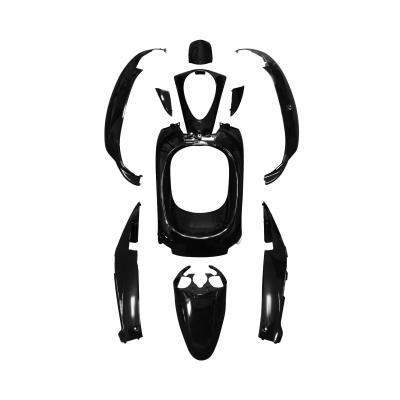 Kit carrosserie 10 pièces noir brillant adaptable sym 50 mio