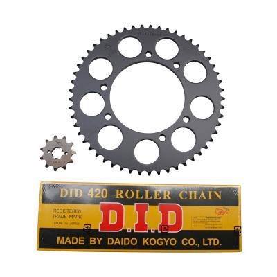 Kit chaîne DID pas 420 11x53 démultiplication d'origine alésage 105 mm Senda 2000>