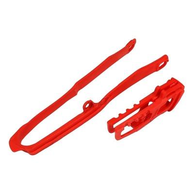 Kit patin et guide de chaîne UFO Honda CRF 450R 17-18 rouge (rouge CR/CRF 00-18)
