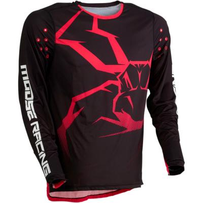 Maillot cross Moose Racing Agroid noir/rouge