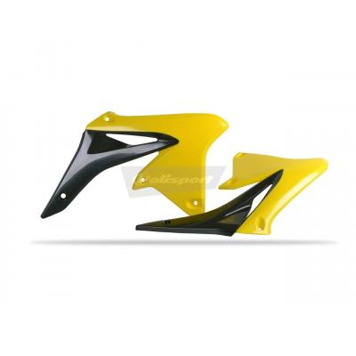 Ouïes de radiateur Polisport Suzuki 250 RM-Z 10-17 noir/jaune