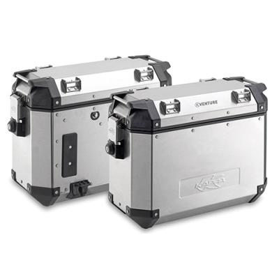 Paire de valises latérales Kappa K-Venture 37+37 Litres aluminium