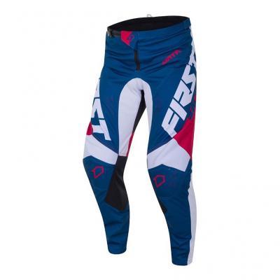 Pantalon cross First Racing Data Evo ardoise/grenat/blanc