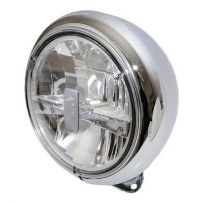Phare LED Highsider HD-Style type 3 fixation inférieure chromé