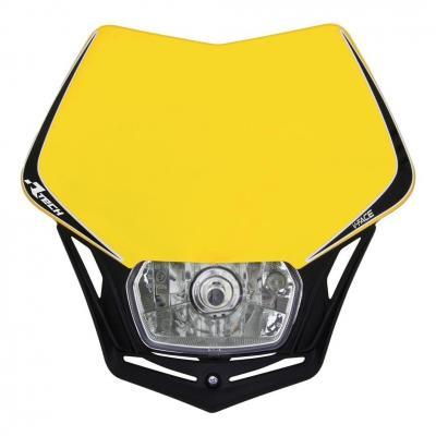 Plaque phare RTech V-Face jaune Suzuki et noire