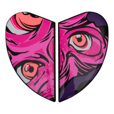 Plaques latérale Icon pour casque Airform Illuminatus rose