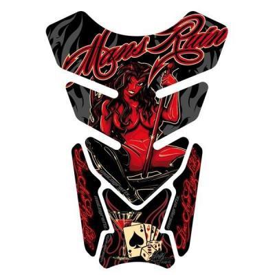 Protection de réservoir Motografix Street Style noir/rouge 4 pièces