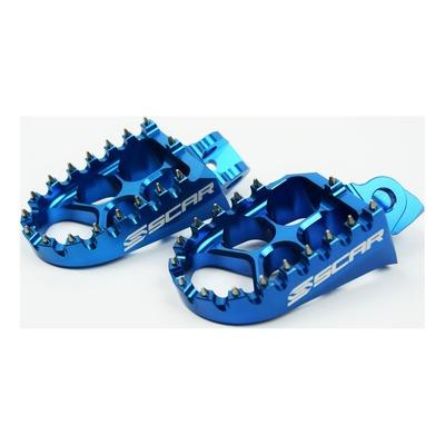 Reposes pieds Scar Evolution bleu pour Kawasaki KX 85 01-20