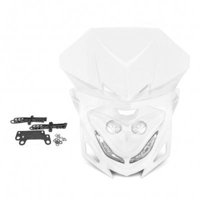Tête de fourche enduro bi halogène + leds winterbee type r8 blanc
