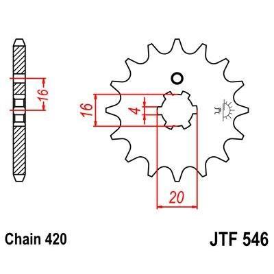 Pignon JT Sprockets Acier pas 420 13 dents - Pour Kawasaki KX 85 Grandes roues 01-15