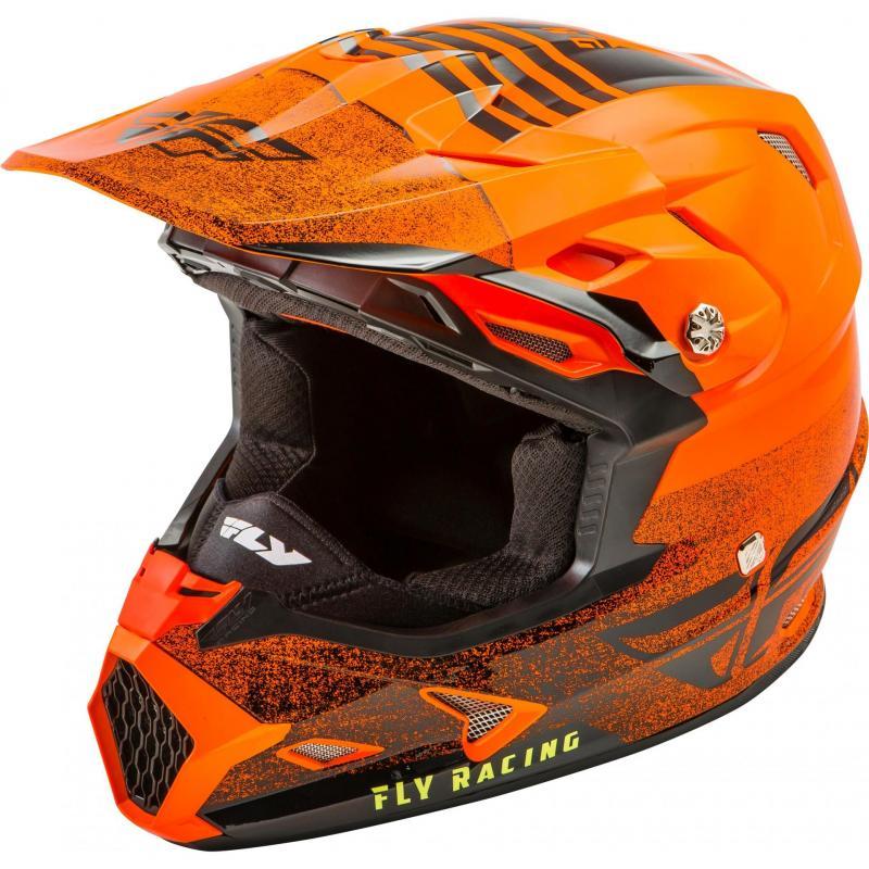 Casque cross Fly Racing Toxin Mips Embargo orange/noir