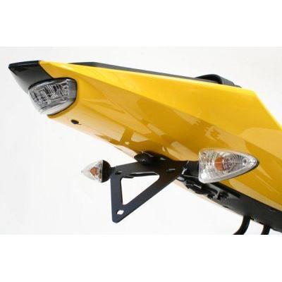 Support de plaque d'immatriculation R&G Racing noir Yamaha YZF-R 125 08-13