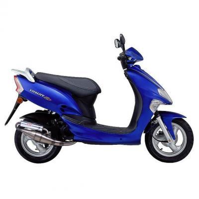 Pot d'échappement scooter Leovince Hand Made TT pour Kymco Vitality 50 04-08