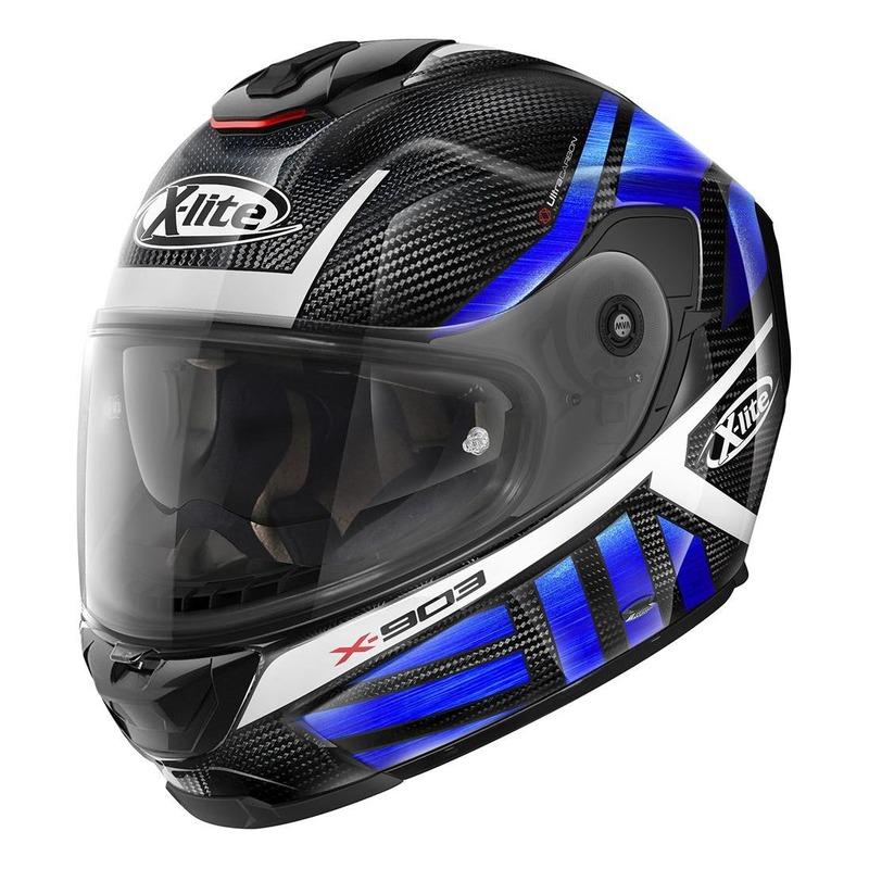 Casque intégral X-Lite X903 Ultra Carbon Cheyenne N-Com bleu/carbone