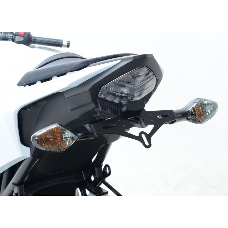 Support de plaque d'immatriculation R&G Racing noir Honda CBR 500 R 16-18 - 5