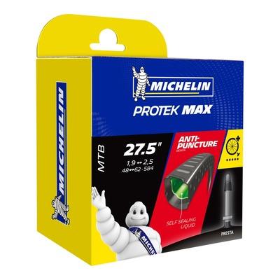 Chambre à air vélo Michelin Protek Max 27,5 x 1,9/2,6 B4 Presta (avec liquide anti-crevaison)