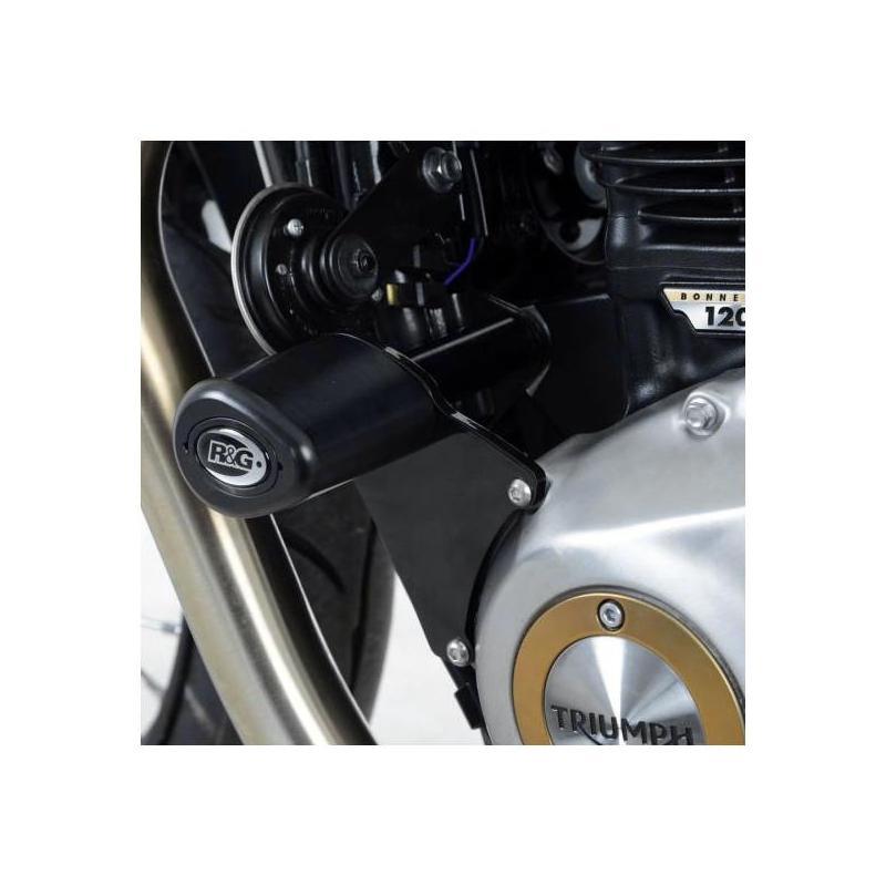 Tampons de protection R&G Racing Aero noir Triumph Bonneville Bobber 900 17-18