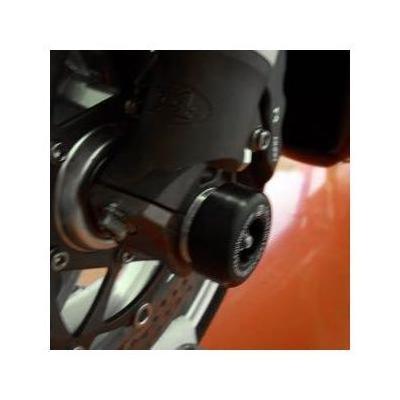 Tampons de protection de fourche R&G Racing noirs Aprilia SXV 550 06-12