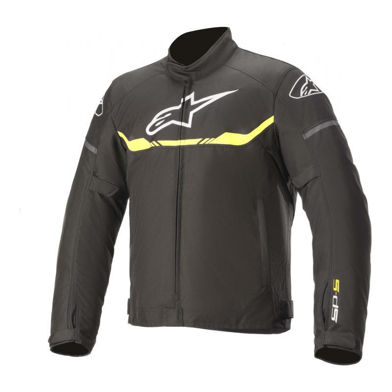 Blouson textile Alpinestars T-SPS Waterproof noir/jaune flluo