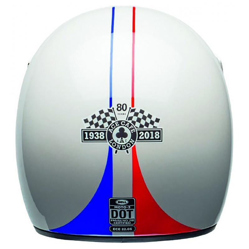 Casque Bell Moto 3 Ace Café GP 66 Gloss blanc/rouge - 3