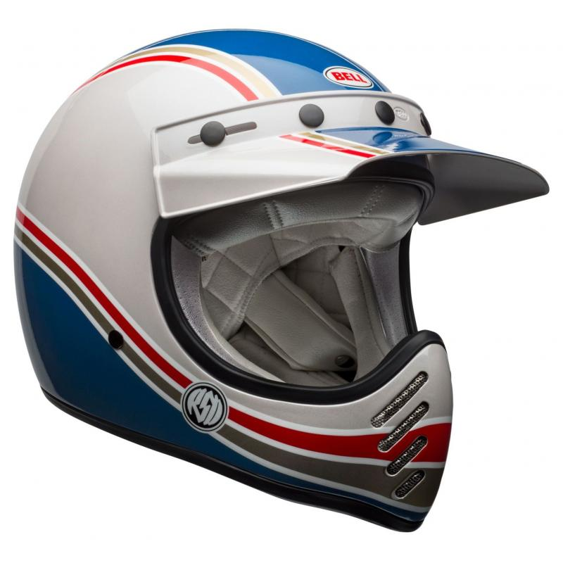 Casque Bell Moto 3 RSD Malibu bleu/blanc - 1
