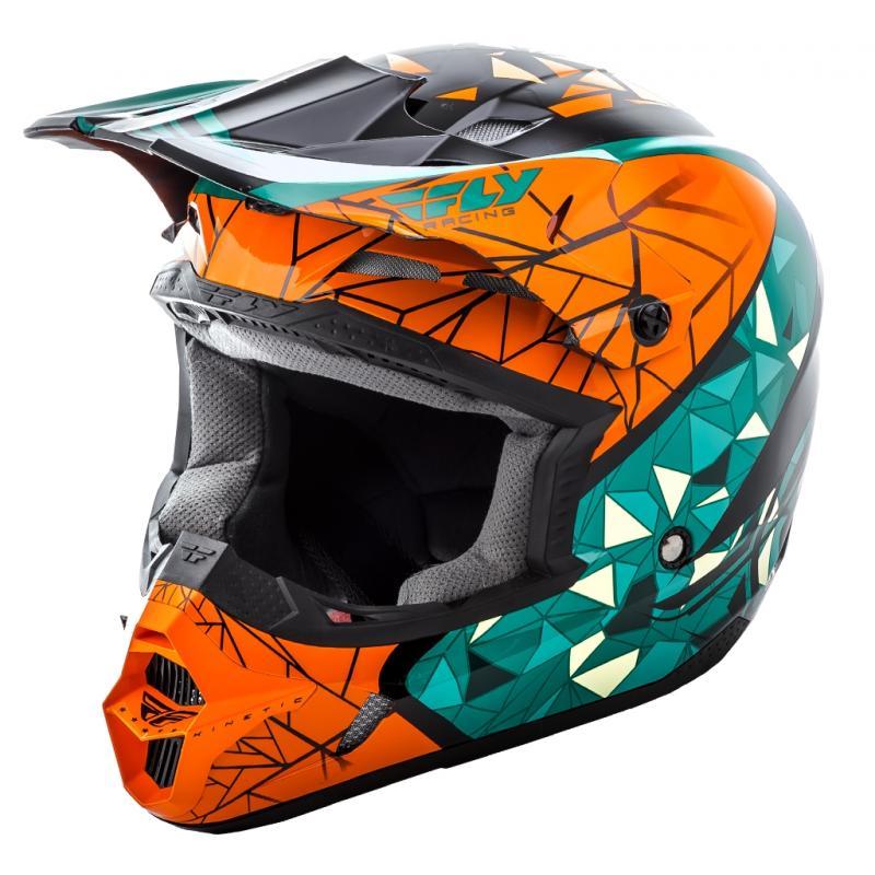 Casque cross Fly Racing Kinetic Crux orange/bleu/noir