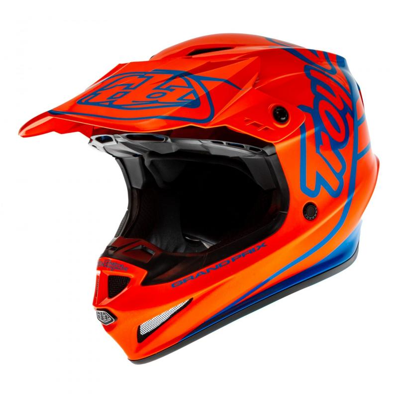 Casque cross Troy Lee Designs GP Silhouette orange/cyan