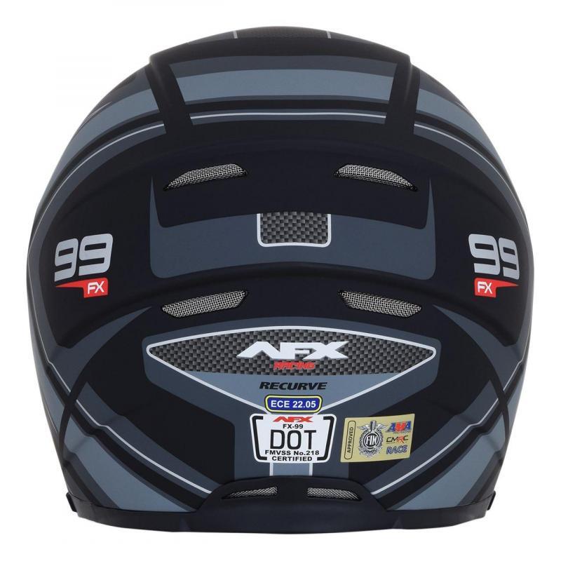 Casque intégral AFX FX99 noir mat/gris - 2