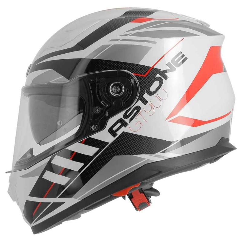 Casque intégral Astone GT900 exclusive STREET blanc/rouge - 1