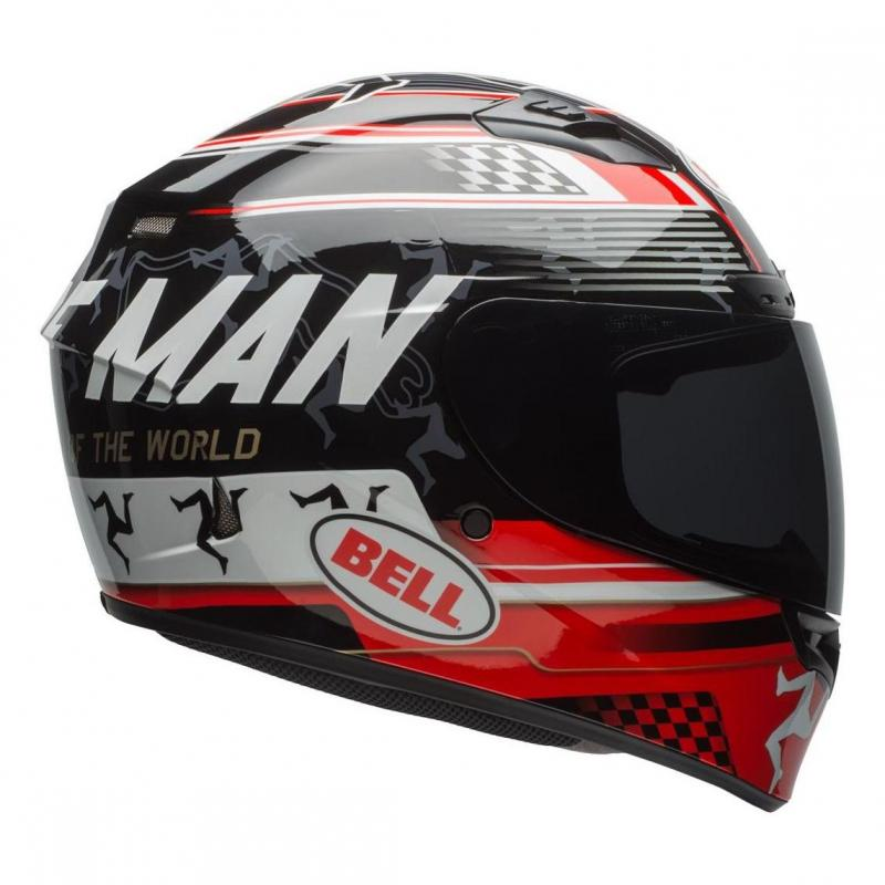 Casque intégral Bell DLX Mips Isle Of Man 18 noir/rouge - 1