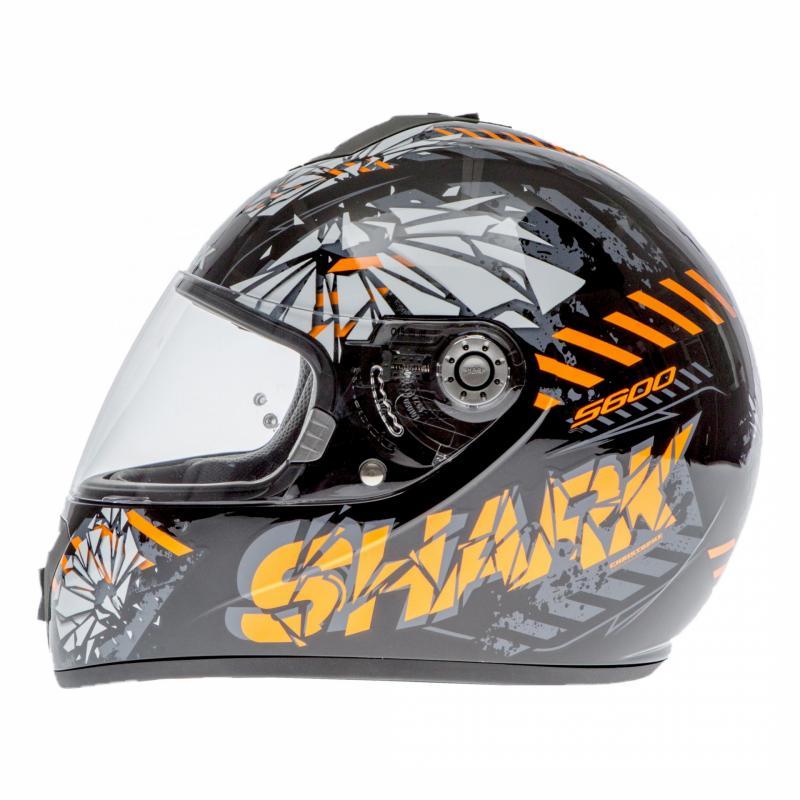 Casque intégral Shark S600 PINLOCK POONKY noir/orange/anthracite - 1