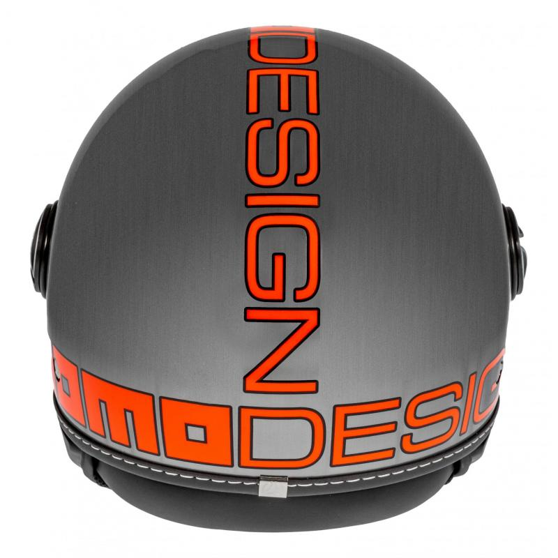 Casque jet Momo Design FGTR EVO gris métal/orange - 4