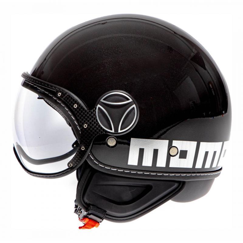 Casque jet Momo Design FGTR EVO noir métal/chrome - 1