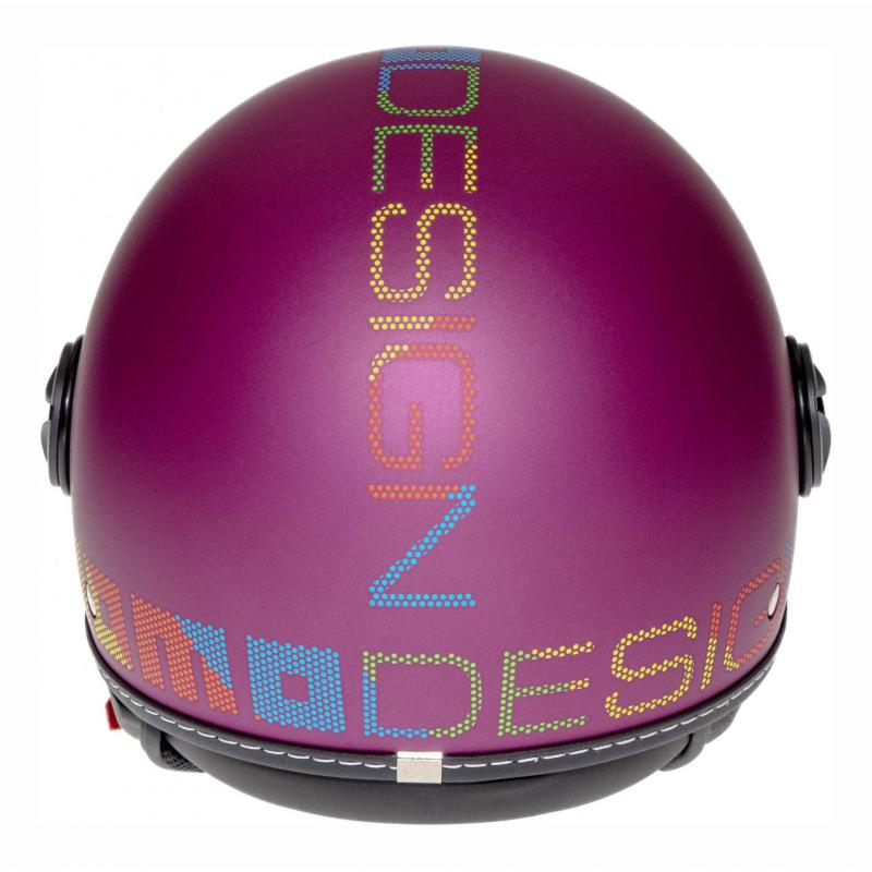 Casque jet Momo Design FGTR Pixel violet mat - 4