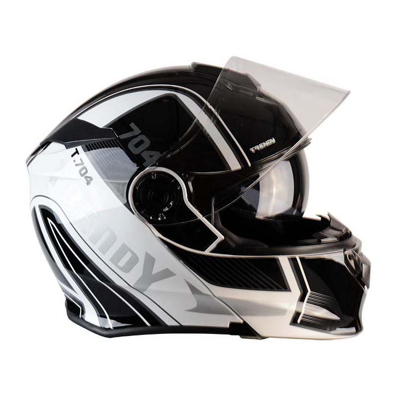 Casque modulable Trendy T-704 Ready blanc / noir verni - 1