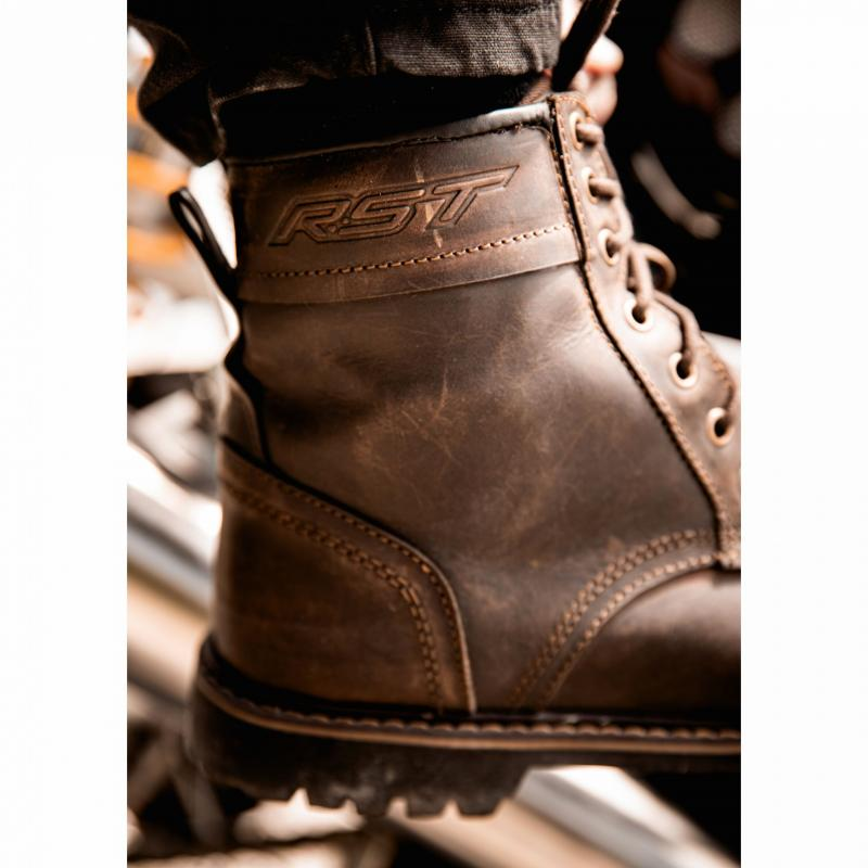 Chaussures moto RST Roadster II WP CE Vintage marron - 3