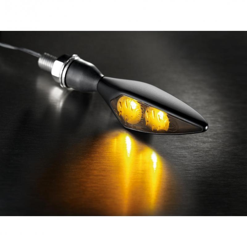 Clignotant LED Kellermann Micro Rhombus noir avec verre fumé AV G / AR D - 2