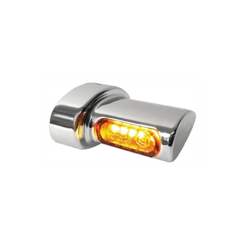Clignotants de garde-boue arrière Heinz Bikes Micro LED chromé / ambre