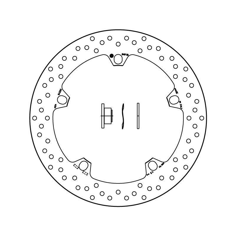 Disque de frein avant Brembo Serie ORO rond fixe 168B407D6