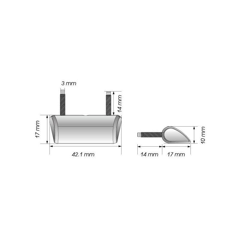 Éclairage de plaque d'immatriculation Koso LED Drop noir - 2