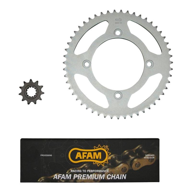 Kit chaîne Afam 11x51 pas 420 Beta 50 RR Enduro 12-