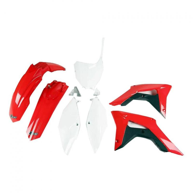 Kit plastiques UFO et kit déco Kutvek Honda CRF 250R 18-19 rouge/bleu/blanc - 1