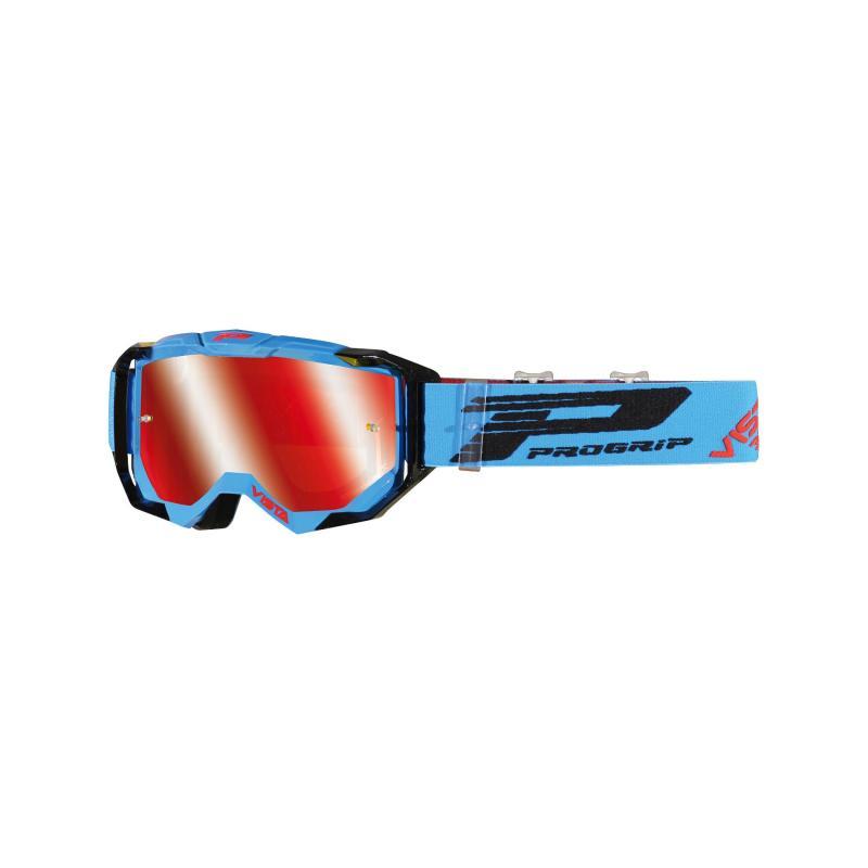 Masque cross Progrip 3303 FL Vista MX America turquoise/noir écran miroir rouge