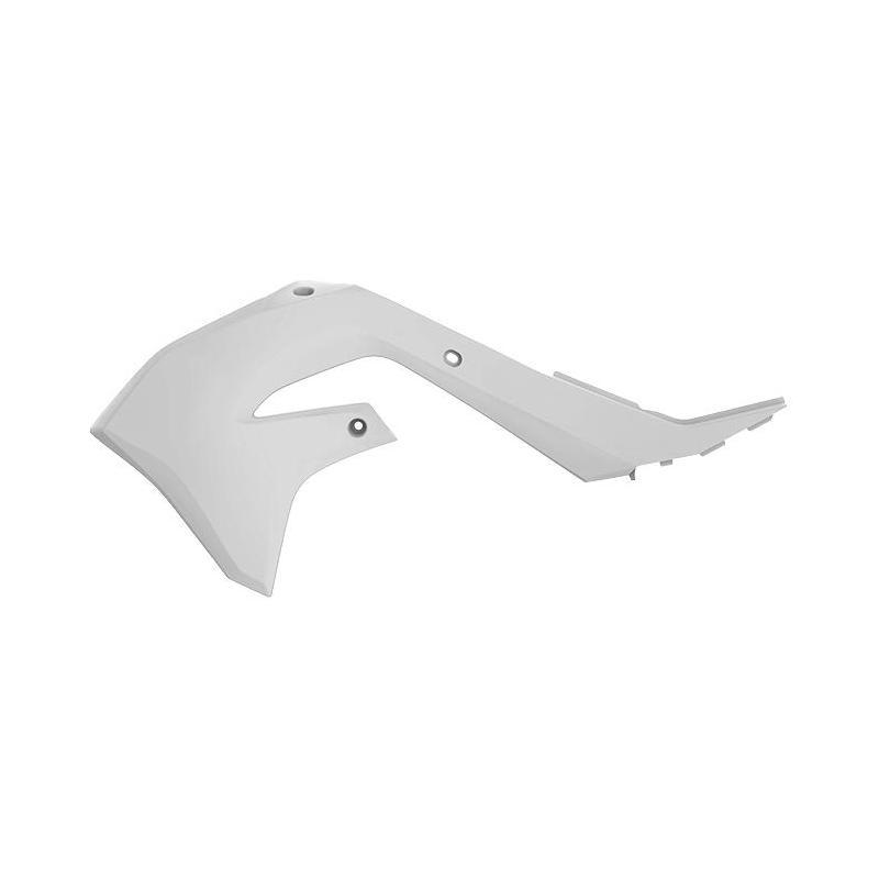 Ouïes de radiateur Polisport Kawasaki 450 KX 19-20 blanc