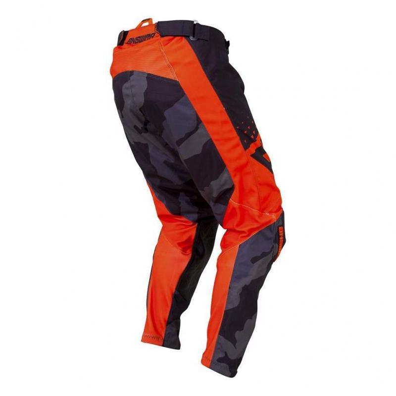 Pantalon cross Answer Elite Discord noir/orange - 2